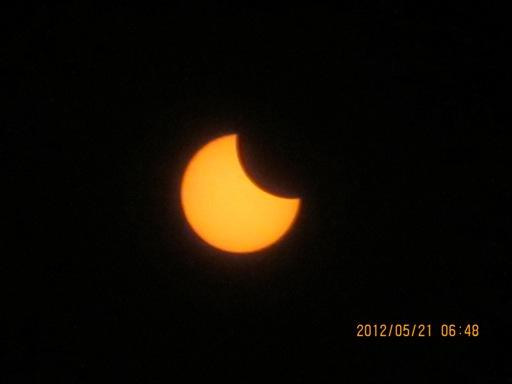 『境町から見た金環日食01』の画像