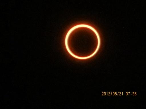 『境町から見た金環日食04』の画像