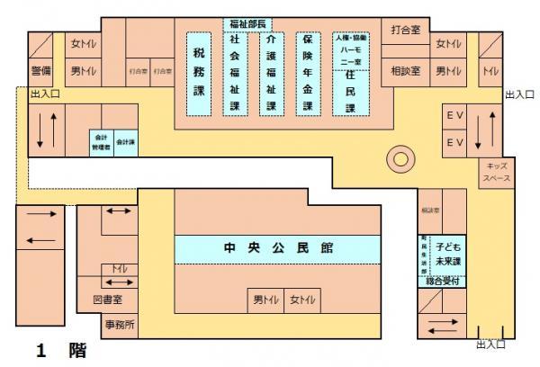 『庁舎1階案内』の画像
