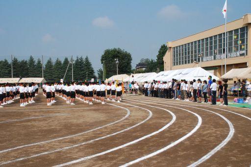 『中学校の運動会01』の画像