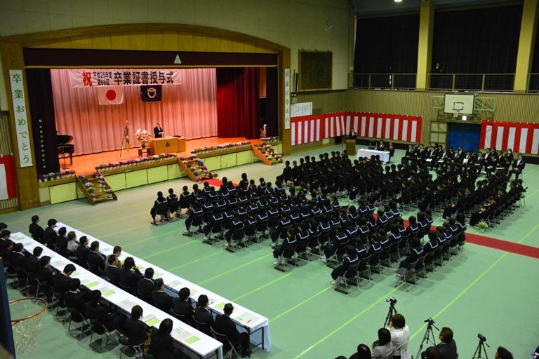 『境第一中学校卒業式2』の画像