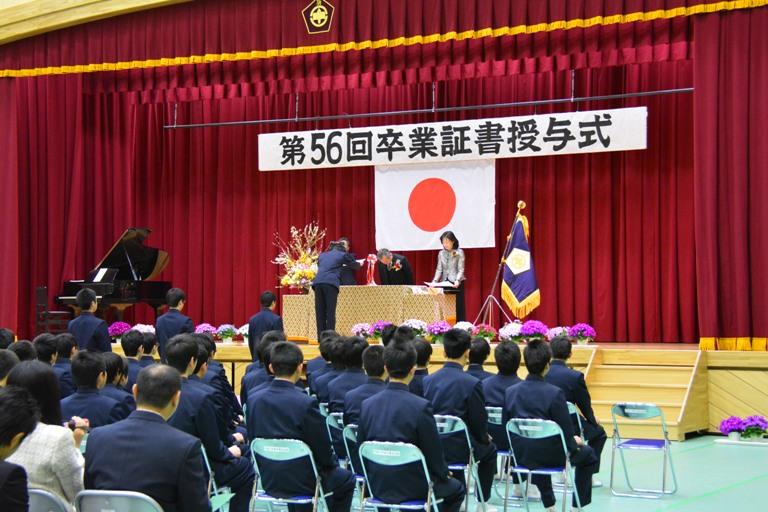 『境第二中学校卒業式』の画像