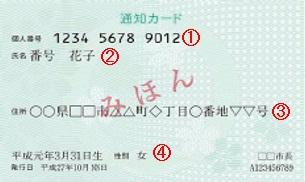 『通知カード詳細』の画像