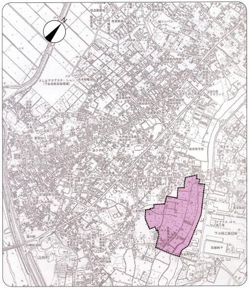 『対象地区の位置図』の画像