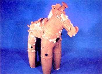 『馬形埴輪(境町指定文化財)の画像です。』の画像