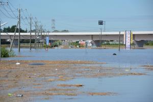 『関東・東北豪雨災害 郊外の被害の様子』の画像