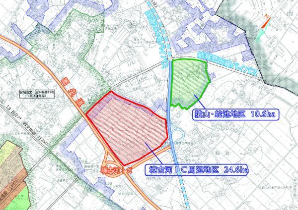 『開発予定地区位置図2』の画像