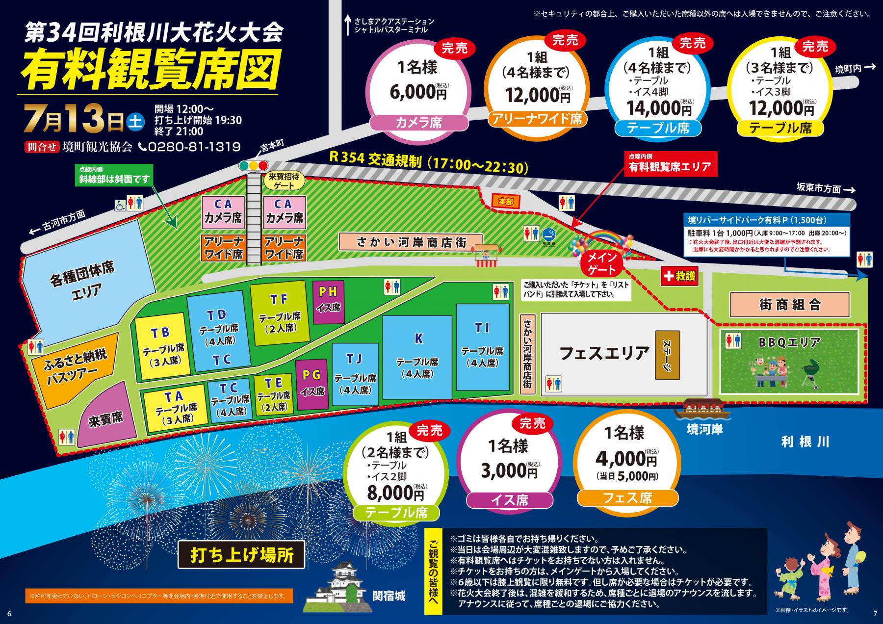『第34回利根川大花火大会_会場案内』の画像