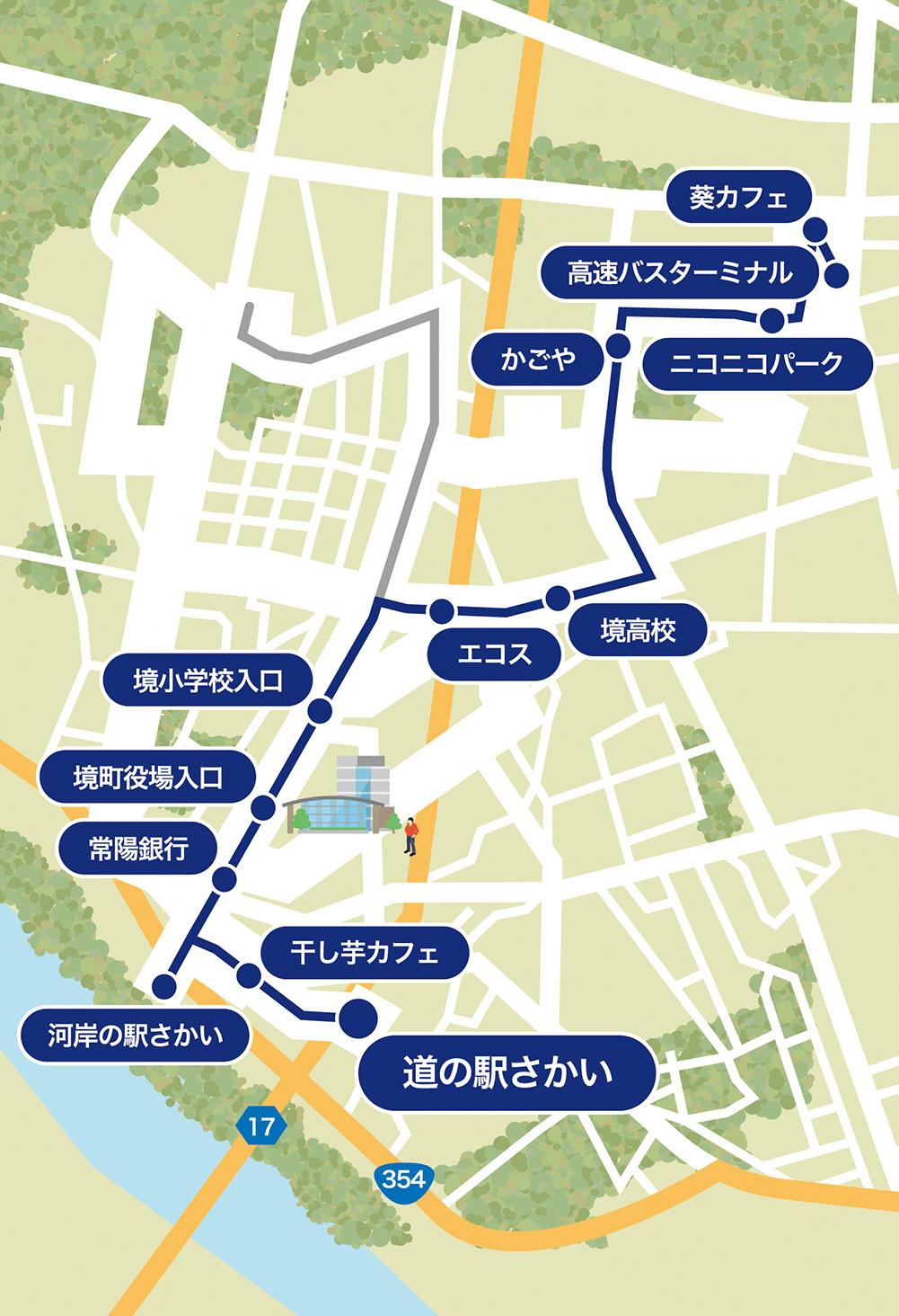『高速バスターミナル・道の駅さかいルート』の画像